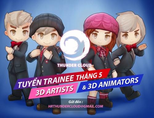 CHƯƠNG TRÌNH TUYỂN TRAINEES THÁNG 5 – 3D ARTIST & 3D ANIMATOR
