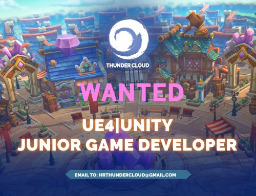 THUNDER CLOUD STUDIO TUYỂN DỤNG JUNIOR GAME DEVELOPER (UNITY/UNREAL)